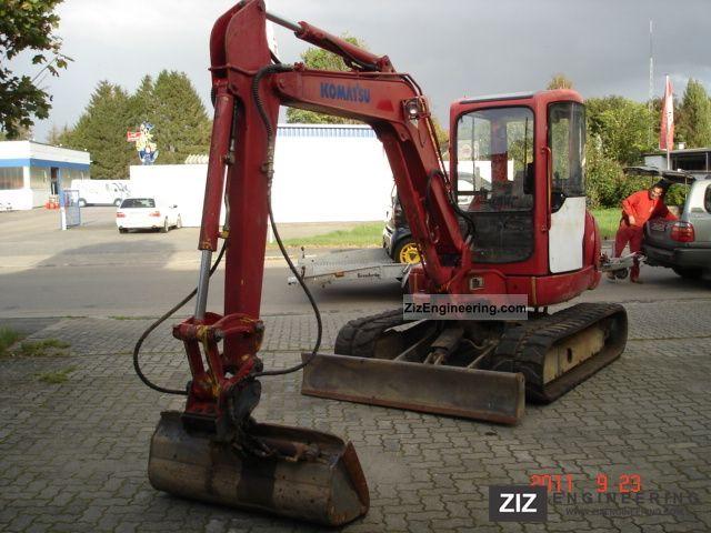 2003 Komatsu  PC 45 with hydraulic. Räumschaufel, year 2003 Construction machine Mini/Kompact-digger photo