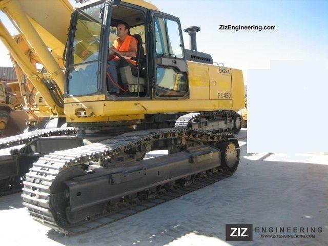 2003 Komatsu  Chain PC 450-6 year 2003 Construction machine Caterpillar digger photo