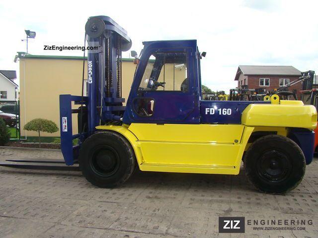 1998 Komatsu  FD 160E-6 Forklift truck Front-mounted forklift truck photo