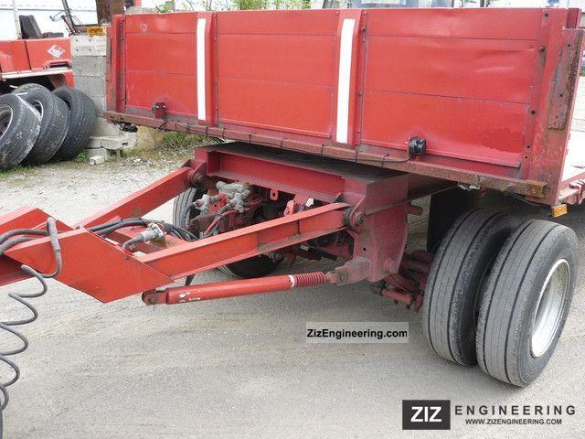 25k Lift Axle For Trailer : Kotschenreuther trailers lift axle rear extendible