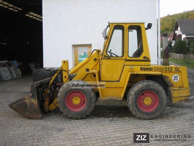 kramer 512 sl 512 slx 1992 wheeled loader construction