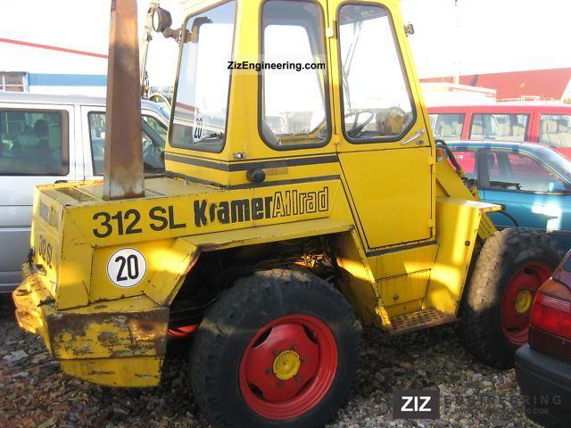 1996 Kramer  312 SL Construction machine Wheeled loader photo
