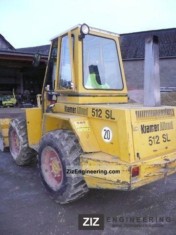 kramer 512sl 1992 wheeled loader construction equipment. Black Bedroom Furniture Sets. Home Design Ideas