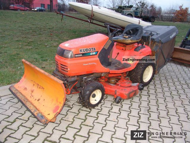 2003 Kubota  G 18 / mower Schneeplflug + / winter service Agricultural vehicle Reaper photo