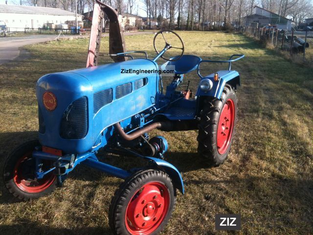 1955 Lanz  Bulldog, D1306, TWN 2-stroke diesel new tires Agricultural vehicle Tractor photo