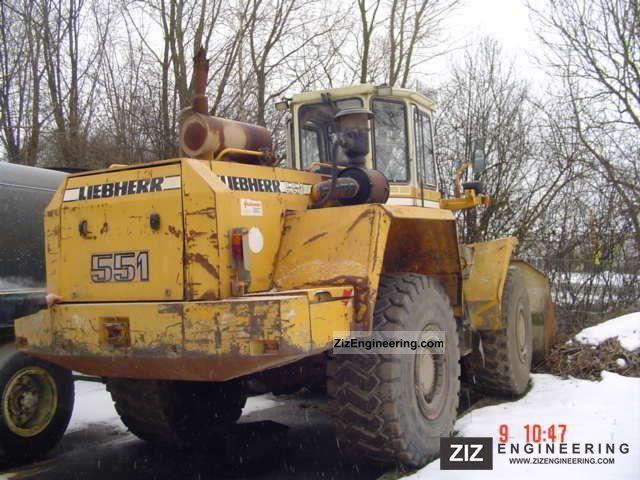 1991 Liebherr  551 Construction machine Wheeled loader photo