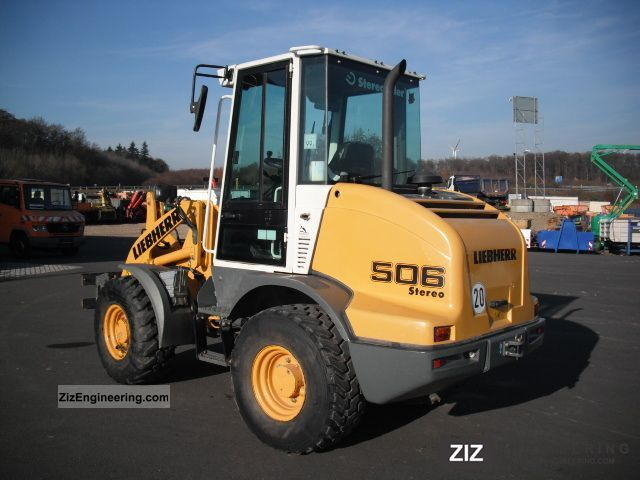 2008 Liebherr  506 Stereo bucket fork Construction machine Wheeled loader photo