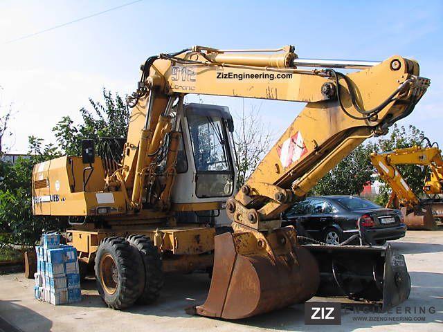 1991 Liebherr  912 Litronic Construction machine Mobile digger photo