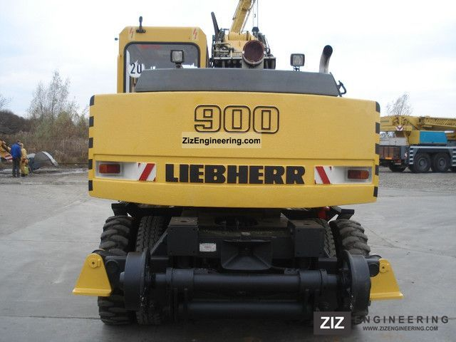 Liebherr A900 Zw 2004 Mobile Digger Construction Equipment Photo And Specs