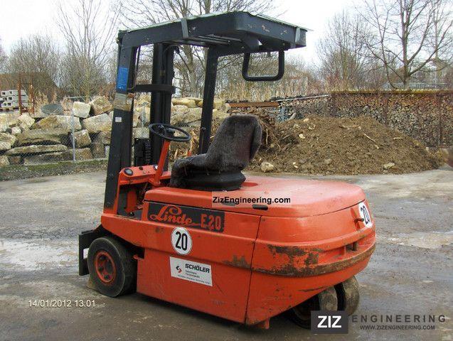 2011 Linde  E 20 Forklift truck Front-mounted forklift truck photo