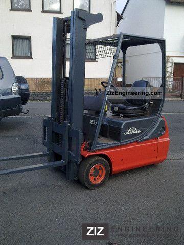 2000 Linde  E 16 Forklift truck Front-mounted forklift truck photo