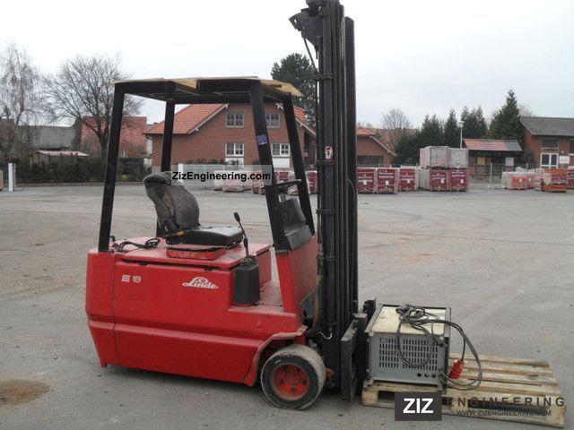 2011 Linde  E 18 + page slide Triplexmast charger! Forklift truck Front-mounted forklift truck photo