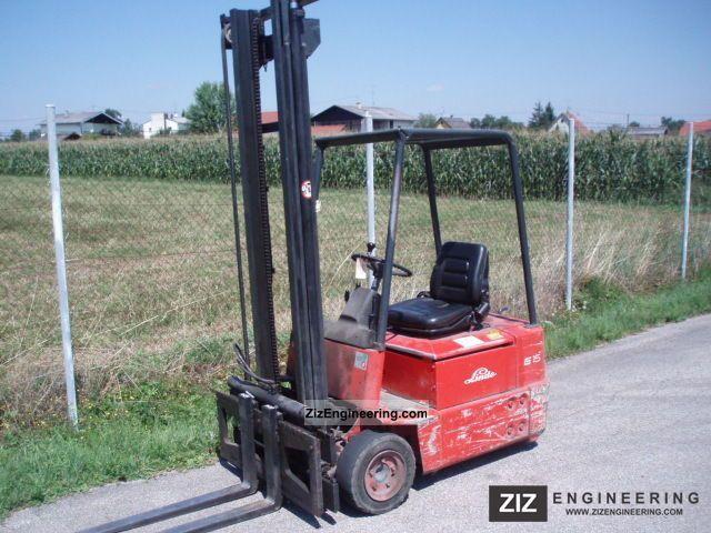 1991 Linde  E 15 - VALVE PAGE Forklift truck Front-mounted forklift truck photo