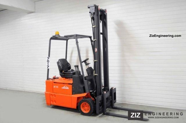 2003 Linde  E 15 Z-02, SS, 2809Bts ONLY! Forklift truck Front-mounted forklift truck photo