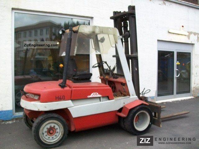 1984 Linde  H 40D diesel with side shift Forklift truck Other forklift trucks photo