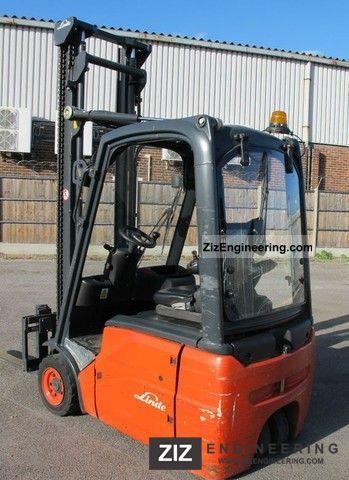 2008 Linde  E16C01 Electric godsis-equipment.com Forklift truck Other forklift trucks photo