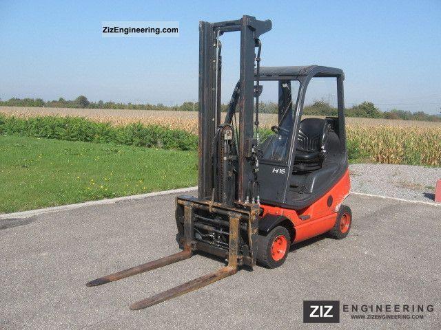 2006 Linde  H16T-03 DUPLEX MAST fork positioner SIDE SLIDE Forklift truck Front-mounted forklift truck photo