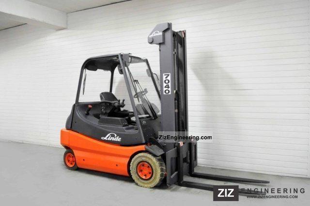 2001 Linde  E 30-02, FREE LIFT, HALF CABIN, 7741Bts! Forklift truck Front-mounted forklift truck photo