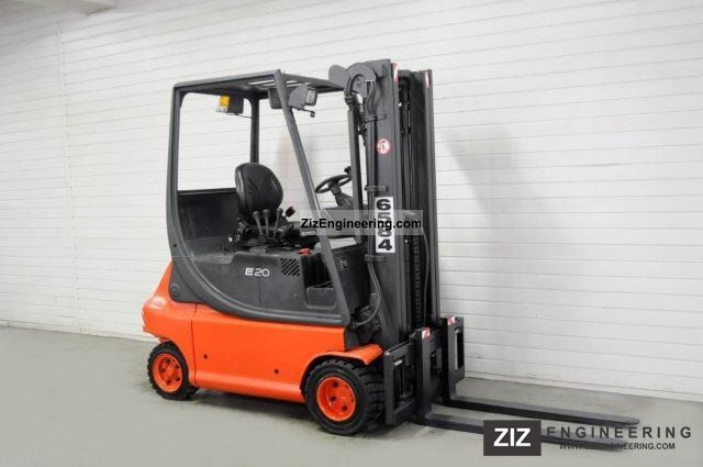 1998 Linde  E 20 P, SS, TRIPLEX Forklift truck Front-mounted forklift truck photo