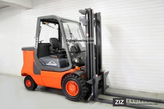 2001 Linde  E 35 P, free lift, HALF CABIN ONLY 5041Bts! Forklift truck Front-mounted forklift truck photo