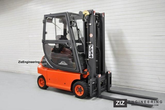 2003 Linde  E 16 P-02, SS, TRIPLEX, CABIN Forklift truck Front-mounted forklift truck photo