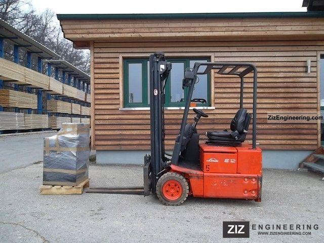 2005 Linde  E 12 Z-02 / 324 (SS-Trip. Bat-Lad. 2010!) Forklift truck Front-mounted forklift truck photo