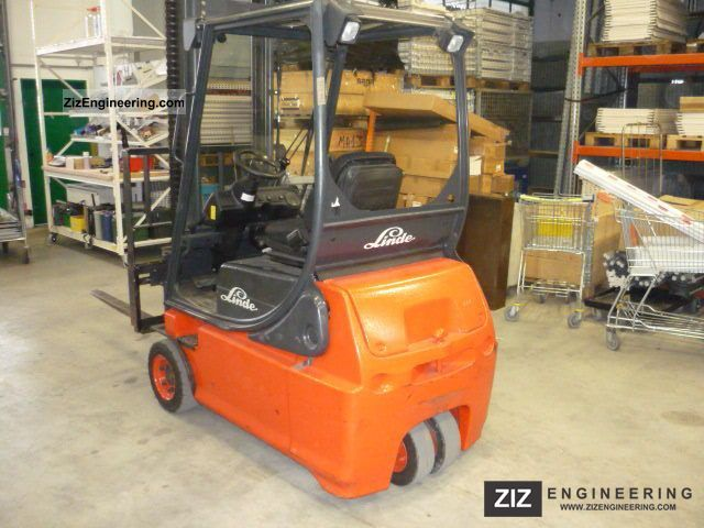 2002 Linde  E 16 lifting height 4800 mm, top condition Forklift truck Front-mounted forklift truck photo