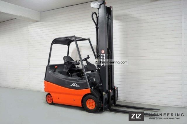 2004 Linde  E 20-02, SS, TRIPLEX, 6926Bts! Forklift truck Front-mounted forklift truck photo