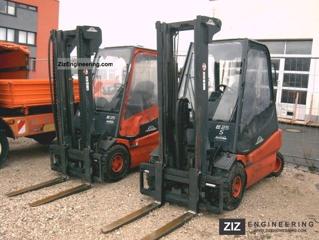 2005 Linde  E 25 S side thrust forks Charger Forklift truck Front-mounted forklift truck photo