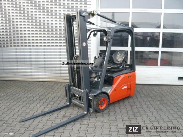 2007 Linde  E 14 Forklift truck Front-mounted forklift truck photo