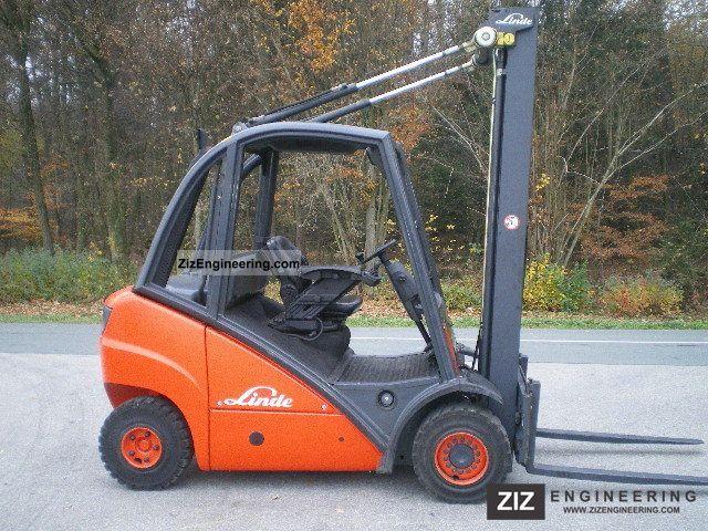 2006 Linde  H20, feeder + triplex free lift (6 m HH) Forklift truck Front-mounted forklift truck photo