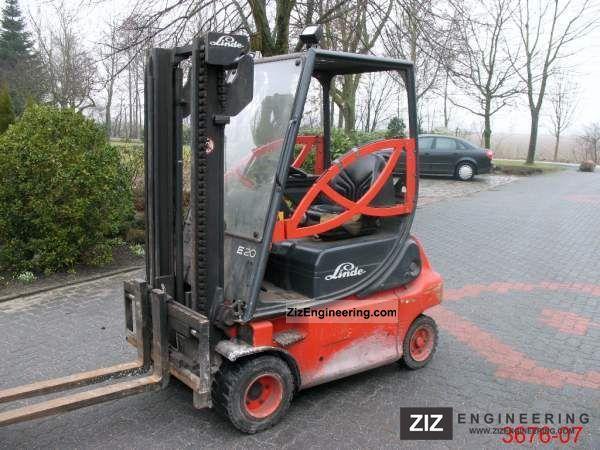 2004 Linde  E 20 P 02 Forklift truck Front-mounted forklift truck photo