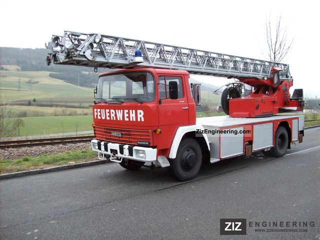 1979 Magirus Deutz  170 fire engine with turntable ladder DLK basket Truck over 7.5t Hydraulic work platform photo