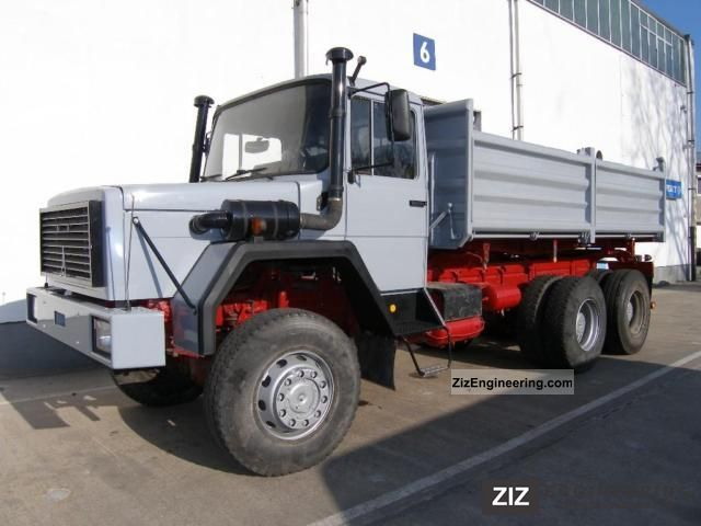 1976 Magirus Deutz  330-30 EAN * 6x6 * Three-way tipper Truck over 7.5t Three-sided Tipper photo