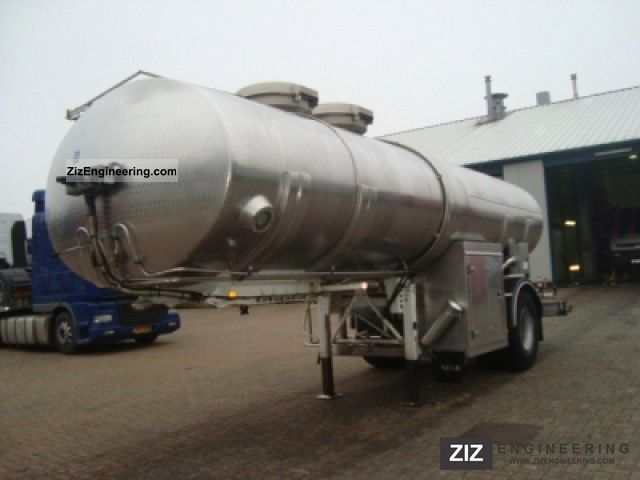 1993 Magyar  Food INOX tank 20m3 / 2 Semi-trailer Food tank photo