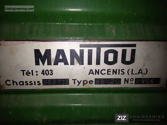 1974 Manitou  MB20 Forklift truck Rough-terrain forklift truck photo