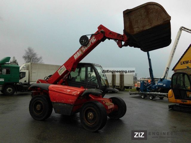 2000 Manitou  735 T Maniscopic grapple Forklift truck Telescopic photo