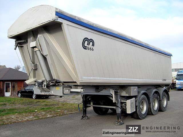 2001 Menci  SL740R aluminum-33 m3 tipper - like new! Semi-trailer Tipper photo