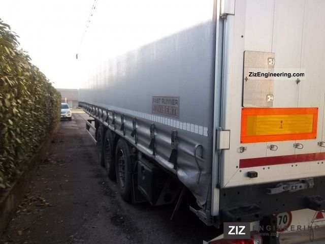 2010 Menci  38S20 PRS FAST RUNNER Semi-trailer Stake body and tarpaulin photo