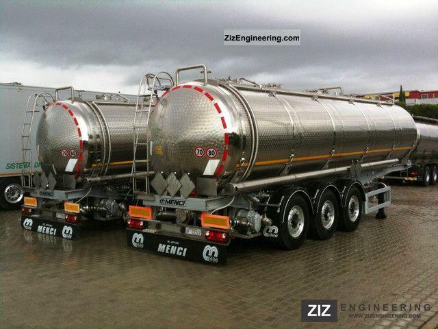 2010 Menci  TANK 3 AXLES 34 000 LT Semi-trailer Tank body photo