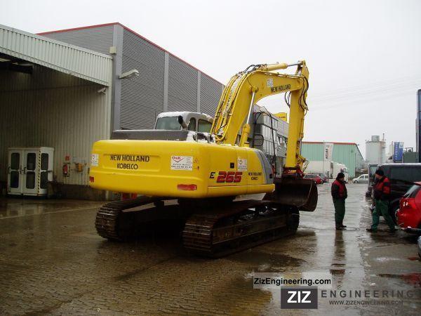new holland e 265 el 2011 caterpillar digger construction equipment photo and specs