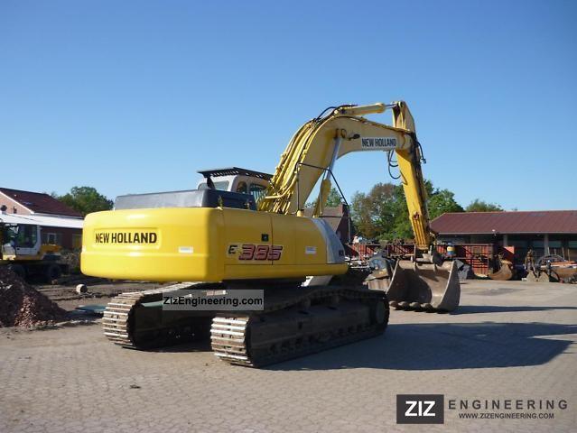 new holland e 385 el 2005 caterpillar digger construction equipment photo and specs