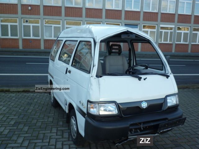piaggio porter 4x4 2008 estate minibus up to 9 seats truck photo and specs. Black Bedroom Furniture Sets. Home Design Ideas