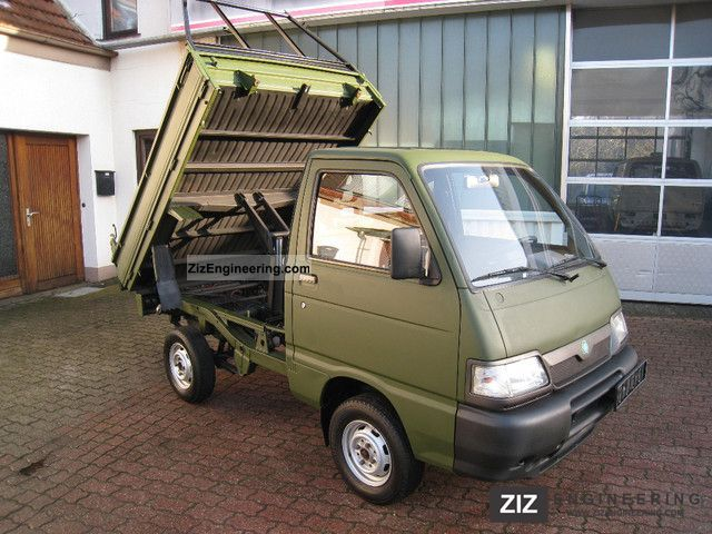 5507a408592b 2002 Piaggio Porter   Van or truck up to 7.5t Tipper photo