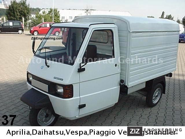 piaggio ape tm box 2011 other vans/trucks up to 7,5t photo and specs