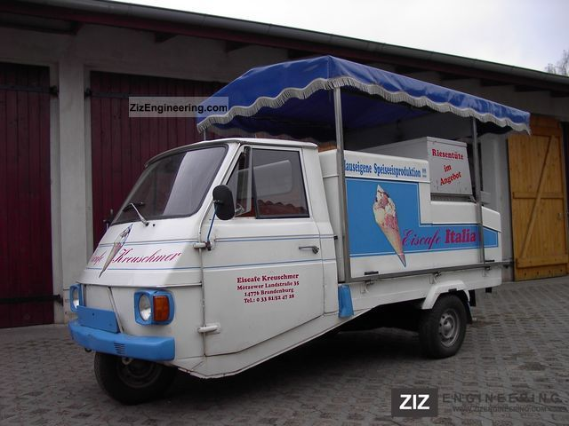 1979 Piaggio  Ice Cream Truck Van or truck up to 7.5t Traffic construction photo