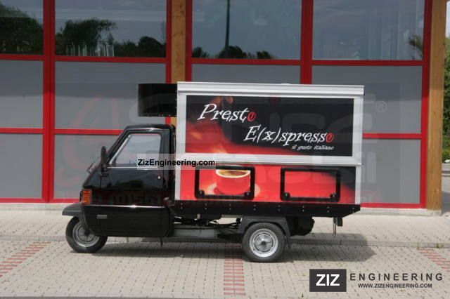 2009 Piaggio  Ape TM Espresso Mobile Cafe Bar Van or truck up to 7.5t Traffic construction photo