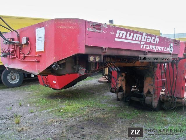 1991 Scheuerle  STBK 6031 AFP LOSAP 55.0.T.3.35 Semi-trailer Low loader photo
