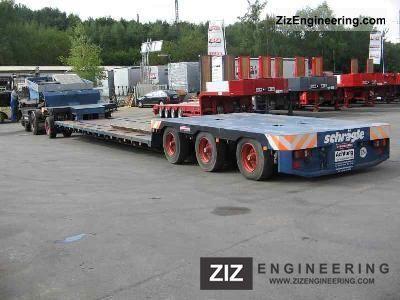 1988 Scheuerle  1 + 3 Deep-bed combination - steered Semi-trailer Low loader photo