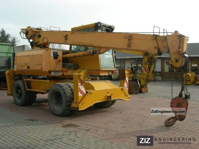 Telescopic mobile crane specifications : Sennebogen s m telescopic crane mobile digger